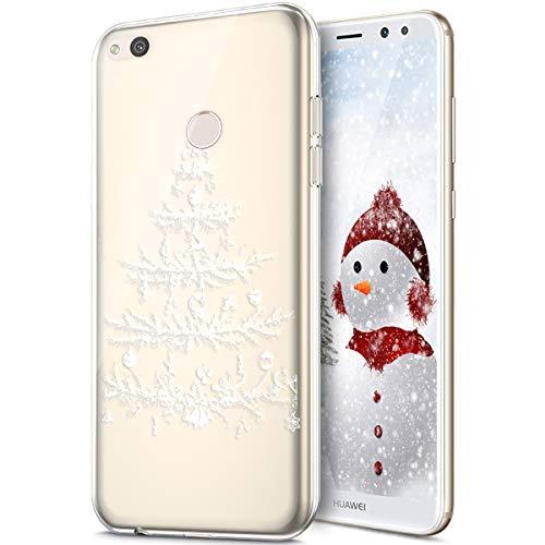 Rann.Bao Coque Huawei Nova Lite,Coque Silicone TPU Transparente Housse Crystal Souple Gel Motif Noël Ultra-Mince de Protection Couverture Etui Coquille Etui pour Huawei Nova Lite,Arbre de noël #1