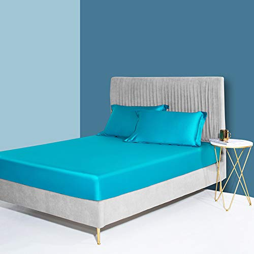 haiba Double Fitted Sheet with Pocket Only Bedsheet No Pillowcases Brushed Microfiber 180x200+28cm