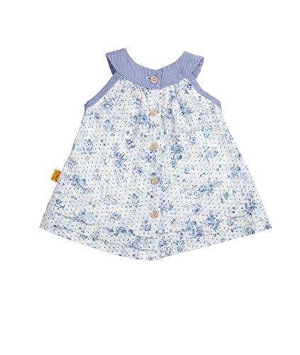 Steiff Baby-Mädchen Tunika ärmellos Bluse, Weiß (Allover 0003), (Herstellergröße: 62)