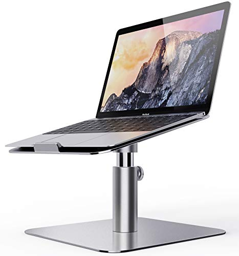 Laptop Stand Adjustable, Ohuhu Ergonomic Aluminum Notebook Computer Holder, Multi-Angle & 360 Rotating Laptop Riser for Desk, Compatible with MacBook Air Pro, Dell, HP, Lenovo More 10-17' Laptops