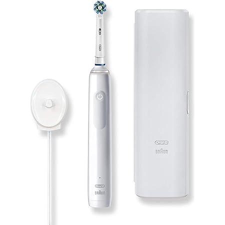 【2020年10月発売】ブラウン オーラルB 電動歯ブラシ PRO2 D5055133XWT ホワイトアラバスター【Amazon.co.jp 限定】