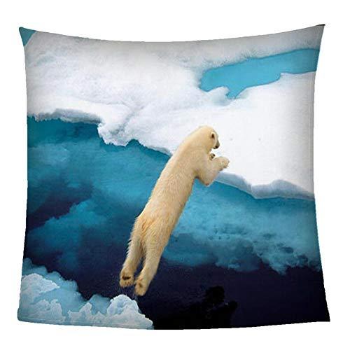Manta Sofá De Franela Oso Polar Animal Manta De Sherpa Impresión 3D Microfibrade Suave Y Cálida 180X200CM Extra Suave Manta para Hogar Viajar Queen Size