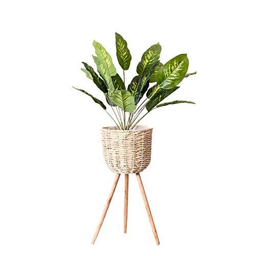 bozitian Rattan Blumenständer Blumenkorb Im Minimalistischen Stil Für Einrichtungsgegenstände Hotels Büros Gartenbau Balkongärten Einkaufszentren