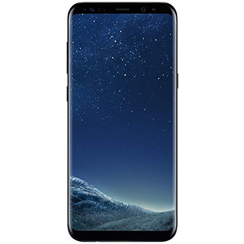 Samsung Galaxy S8+, 64GB, Midnight Black - Fully Unlocked (Renewed)