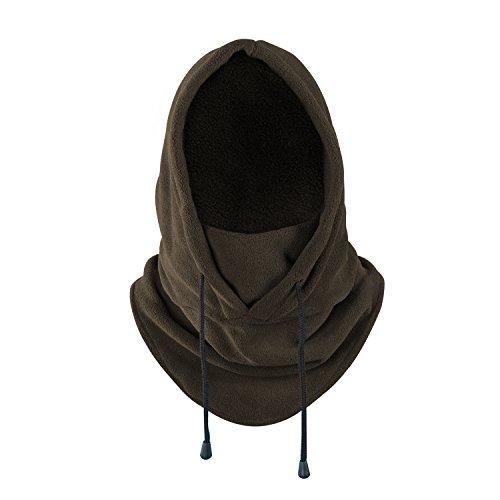 Balaclava Heavyweight Fleece Cold Weather Face Neck Mask (Brown)