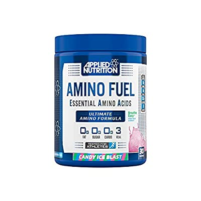 Applied Nutrition Amino Fuel - Essential Amino Acids (EAA) Maximize Muscle Growth, 11g of Aminos Per Serving with Additional 45mg AstraGin 390g - 30 Servings (Candy Ice Blast)