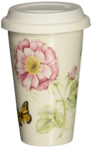 Lenox Butterfly Meadow Thermal Travel Mug -10 oz, White -