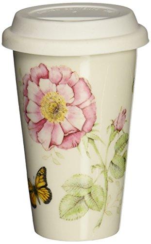 Lenox Butterfly Meadow Thermal Travel Mug -10 oz, White -