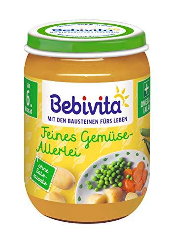 Bebivita Feines Gemüse-Allerlei, 6er Pack (6 x 190 g)