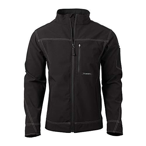 TRUEWERK Men's Softshell Workwear Jacket - T3 WerkJacket, Medium Black