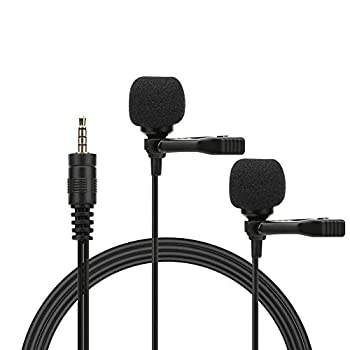 Hakeeta Mini Collar Clip Microphone for Phone,Double Live Interview Microphone,6m Super Long Line,Suitable for Singing Music Live Broadcast Recording and Interview