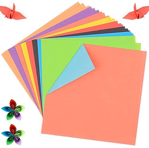 GLOBALDREAM Papel de Origami, 200 Hojas Origami Papel 15x15 Papiroflexia Doble Cara...