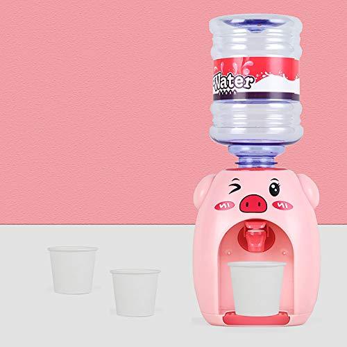 Younoo Elektrischer Mini niedlichen Schweinchen Wasserspender mit Wassereimer Maschine Mini Desktop Wasserspender Kompakte Größe Für Schreibtisch Home Office Student Wohnheim Kinder Geschenk