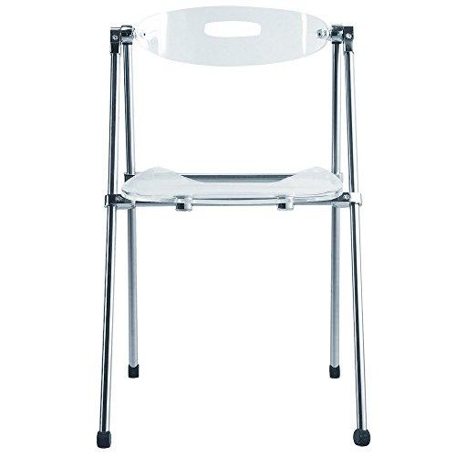 Nova Furniture Group Acrylic Folding Chair, Clear