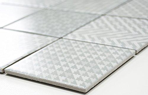 Rete mosaico mosaico piastrelle quadrati Geo GREY ceramica mosaico per piastrelle da parete specchio piatto doccia
