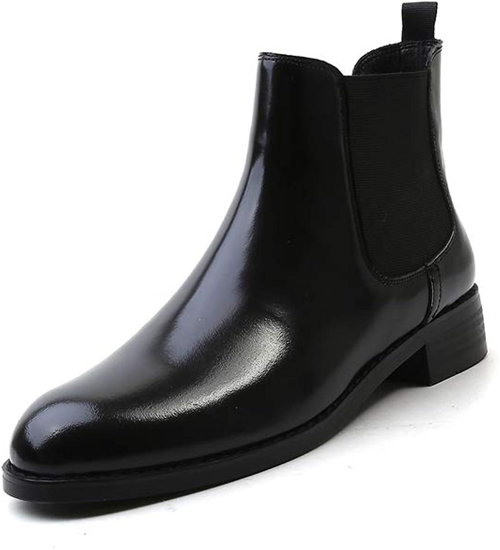 Frauen Stiefel Zip Spitz Zeh Block Fersen Fersen Fersen Echtes Leder schwarz niedrige Fersen Gürtelschnalle Stiefeletten  d23e6e