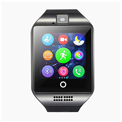 Smart Watch Phone, Smartwatch with Pedometer TF SIM Card Slot Camera Call Text SMS Notification Compatible with Android Samsung Huawei LG Sony and iOS iPhone (Partial Function) for Men Women Teens