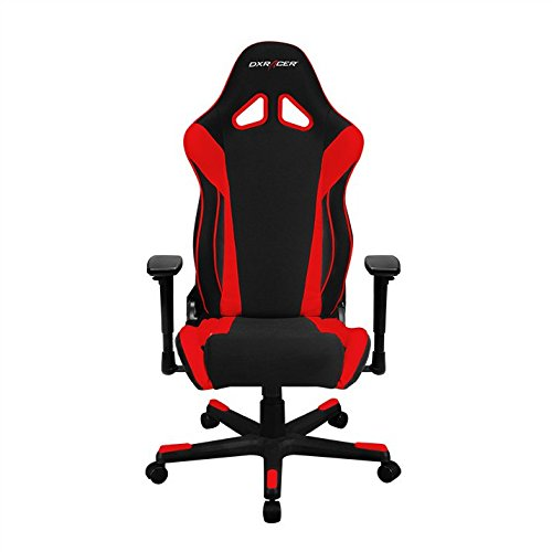 DXRacer OH/RW106/NR Racing Series Black and Red Gaming Chair - Includes 2 Free Cushions