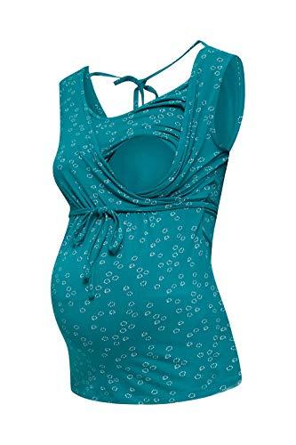 Esprit Maternity T-Shirt Nursing SL AOP Camisa de Pijama premamá para Mujer