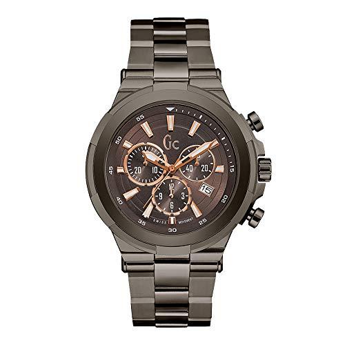 Reloj GC en acero negro–hombre–44mm