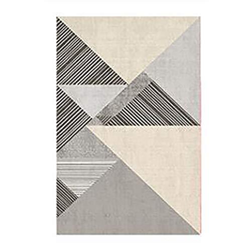 Alfombra Área decorativo Alfombra gris y amarillo geométrico máquina de tejer de la alfombra del piso del rectángulo Estera de suelo for Lavandería Sala de estar del dormitorio Alfombra para Salón