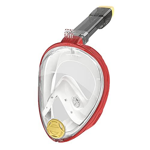 nunca te rindas Nueva Máscara De Buceo para Niños Adultos con Doble Tubo De Doble Tubo para Respirar Sin Snorkeling Máscara(Color:C)