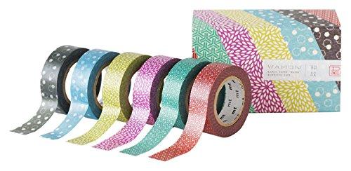 MT MT06P004Z WAMON4Washi tape roll (confezione da 6)