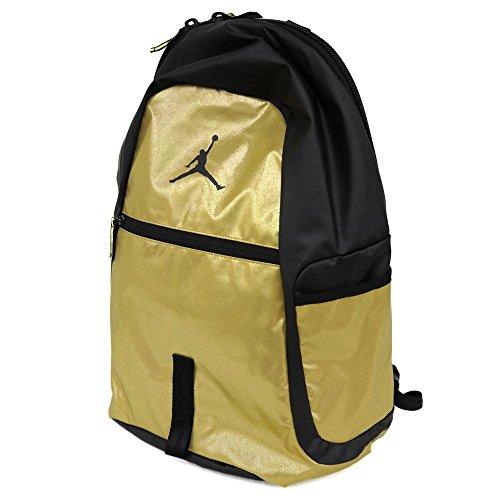 Nike Air Jordan Jumpman Reflector All World Bookbag Sports Laptop Student Backpack Metallic Gold