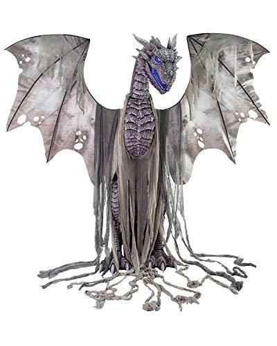 Screamstore Winter Dragon riesiger Drachen Roboter 2 Meter Animatronic Halloween