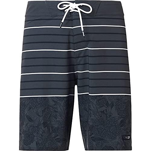 Oakley Men's Standard Split Floral 20 RC Boardshorts, Green Flower/Stripe, 36