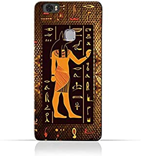 Huawei Honor Note 8 TPU Silicone Case with Egyptian Hieroglyphs Pattern