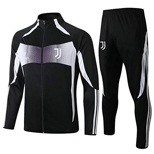 ZuanShiDaHeng Fußball Uniform Game Jacke und Hose Trainingsanzug Anzug Jacke Full Zipper Multicolor S-XL-2_M
