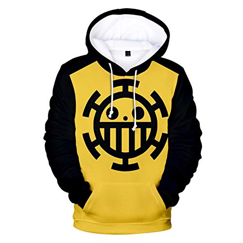 One Piece Trafalgar Law Sweats À Capuche Pull D.Luffy Cosplay Costume À Manches Longues Veste Zip Sweat Unisexe All-Over Impression 3D Dessin One Piece Cosplay Costume Vestes Manteau Hoodies Costume