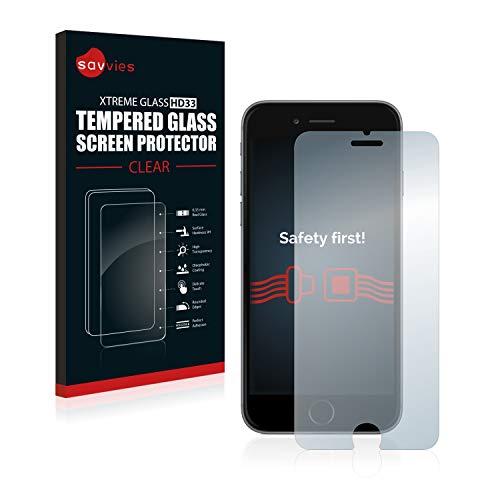 savvies Cristal Templado Compatible con iPhone 6 / 6S Protector Pantalla Vidrio Proteccion 9H Pelicula Anti-Huellas