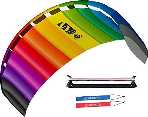 colourliving Lenkmatte mit Bar Symphony Beach III 2.2 Sport Plus incl. Controlbar und Lenkschlaufen 2 in 1 komplett Set