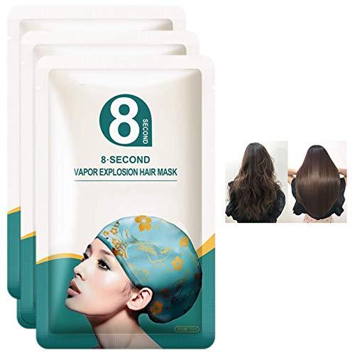 OQSM Mascarilla de pelo auto calentamiento máscara de pelo vapor para cabello dañado 3PCS