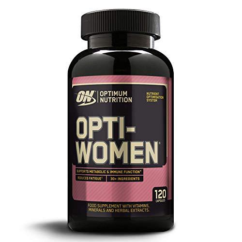 Optimum Nutrition Opti-Women, Suplemento Multivitamínico, Multivitaminas y Minerales para Mujeres con Vitamina D, Vitamina C, Magnesio y Acido Folico, Sin Sabor, 60 Porciones, 120 Cápsulas