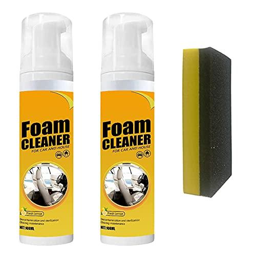 Hongguangji Spray de Limpieza, Limpiador para el Interior del Coche, Aroma de limón Fresco, Elimina el Olor Peculiar del Coche, 200 ml por Botella