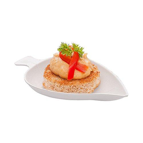 Bagasse Tasting Plate, Mini Tasting Dish - Durable All Natural, Biodegradable, Disposable Material - 3.7