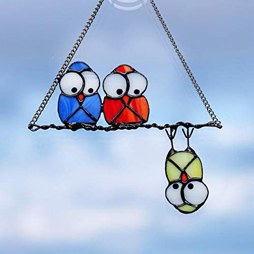 Syfinee Owl Ornament Custom Owls Window Hangings Suncatcher Owl Emotes Metal Board Gift Garden Decor
