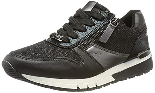 TOM TAILOR Damen 2191118 Sneaker, Black, 39 EU