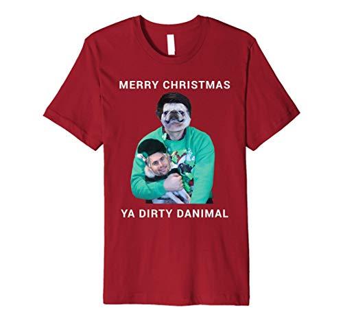 Merry Christmas Ya Dirty Danimal Pugly Sweater Premium T-Shirt