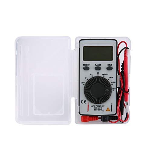 DT9210 1999 Cuenta Multímetro digital de bolsillo AC/DC Voltaje Amperímetro Probador Resistencia Diodo Continuidad Prueba Retención de datos Rango automático y (color: gris)