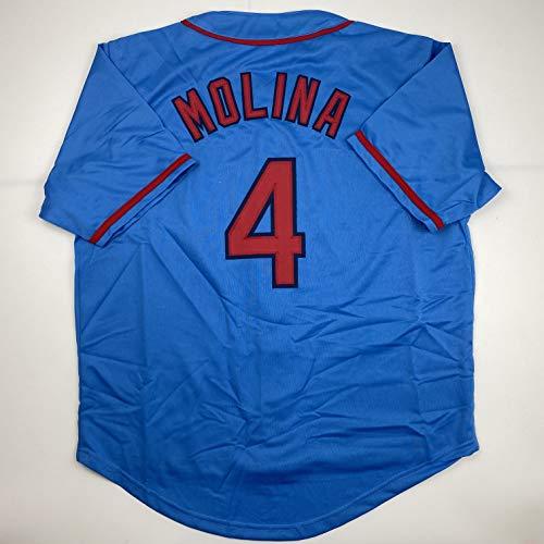 Unsigned Yadier Molina St. Louis Blue Custom Stitched Baseball Jersey Size Men's XL New No Brands/Logos