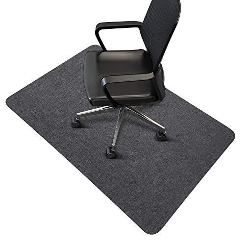 Office Chair Mat, SALLOUS Hard-Floor Chair Mat for Home, 55'x 35' Floor Protector Mat for Desk Chairs, 0.16' Thick Low-Pile Office Chair Mat for Hardwood Floor (Dark Gray)