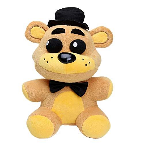 JIN 20 cm Golden Freddy Spielzeuge Plüsch Weiche Puppen für Kinder, Freddy Fazbear Pizza FNAF Spielzeuge Gefüllte Puppen