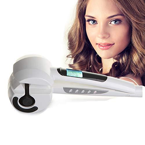 Titanium Auto Rizador De Pelo Con Vaporizador Cuidado Del Cabello Herramientas De Peinado Onda Cerámica Eléctrica Hair Stick Magic Rizador (Blanco)