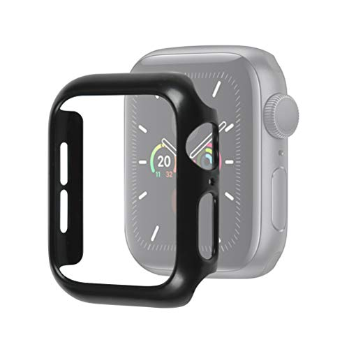Idealeben Custodia Protettiva per Apple Watch 44 mm, Custodia Protettiva Compatibile con Apple Watch Series 5/4 - Nera, Custodia Protettiva Leggera, Custodia per PC Ultra Sottile