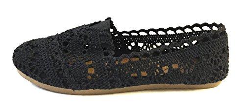 Shoes 18 Womens Canvas Slip on Shoes Flats 5 Colors (9/10, 3008A Black)