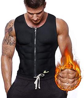 Gowhods Waist Trainer Sweat Vest for Men, Hot Neoprene Sauna Tank Top, Compression Workout Corset|Slimming Body, Heat Keep Thermal Underwear, Gym Suit